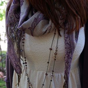 Accessories - ⬇️ Purple & Gold Printed Scarf